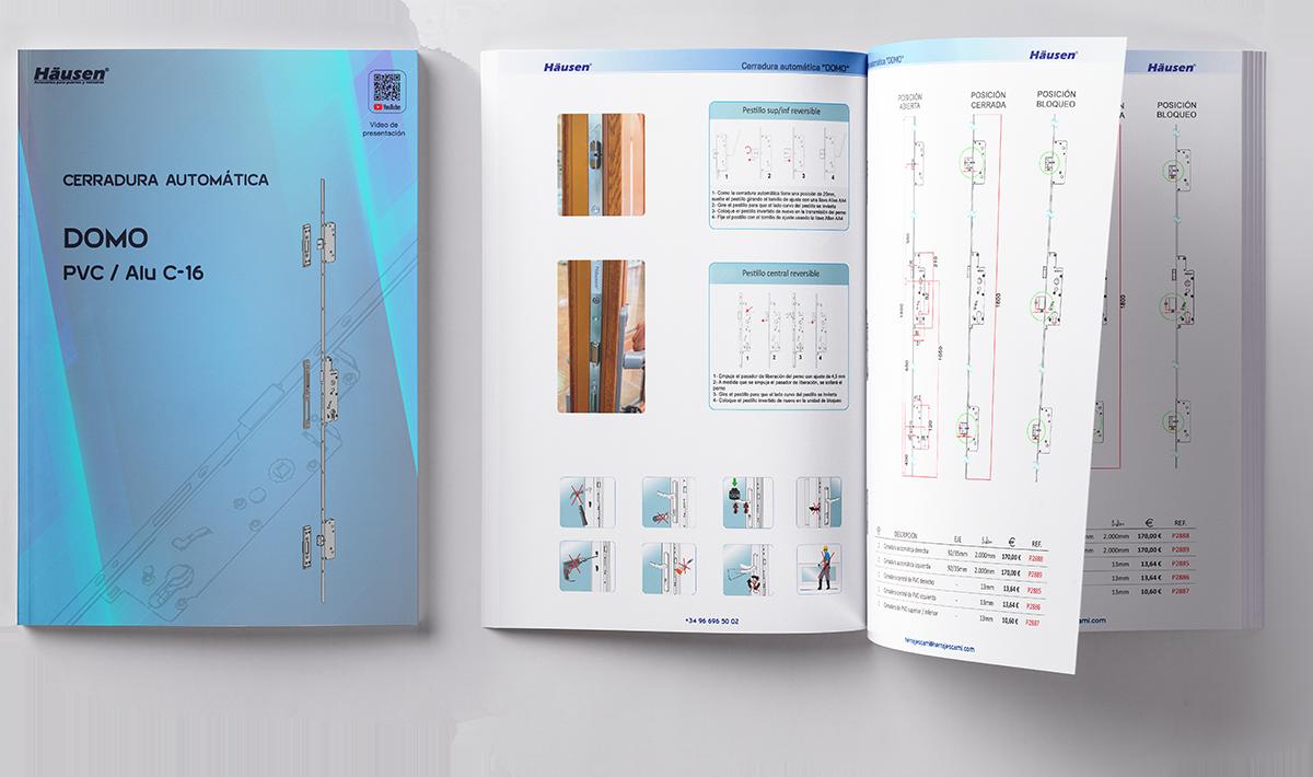 Catálogo Cerradura automática DOMO para ventanas y puertas de Aluminio y PVC