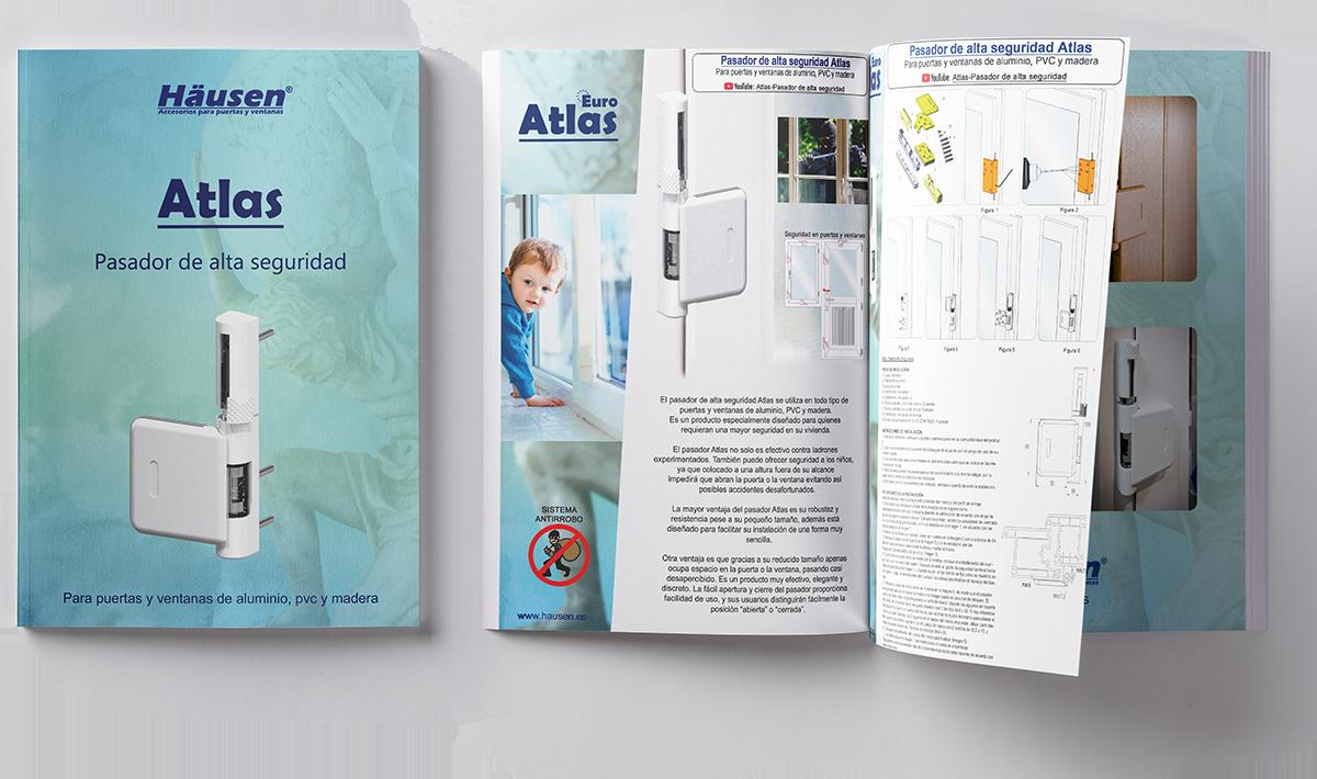 Catalogo Pasador de alta seguridad anti robo ATLAS para puertas y ventanas de Aluminio y PVC