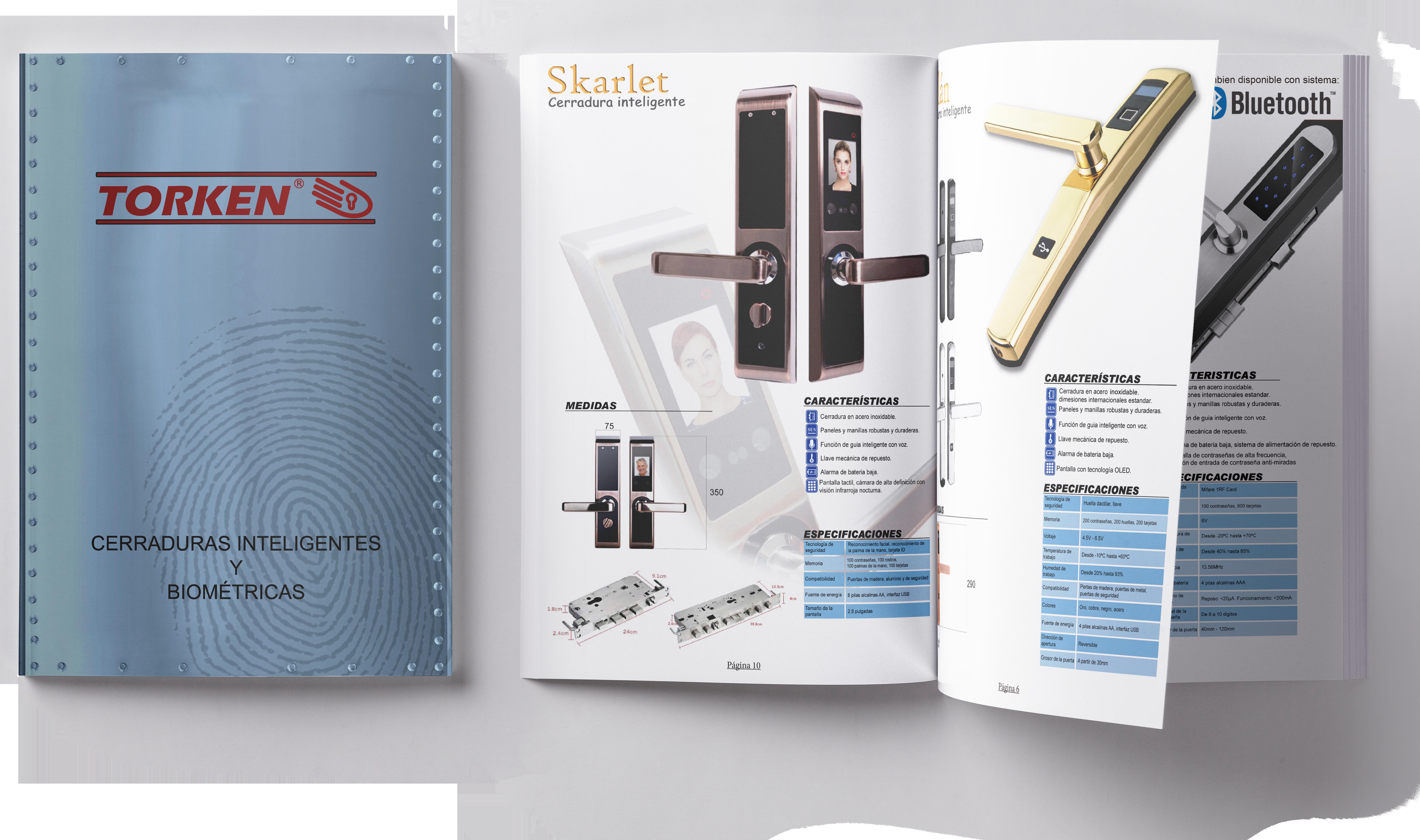 Catalogo cerraduras inteligentes y biometricas para puertas y ventanas de Aluminio y PVC