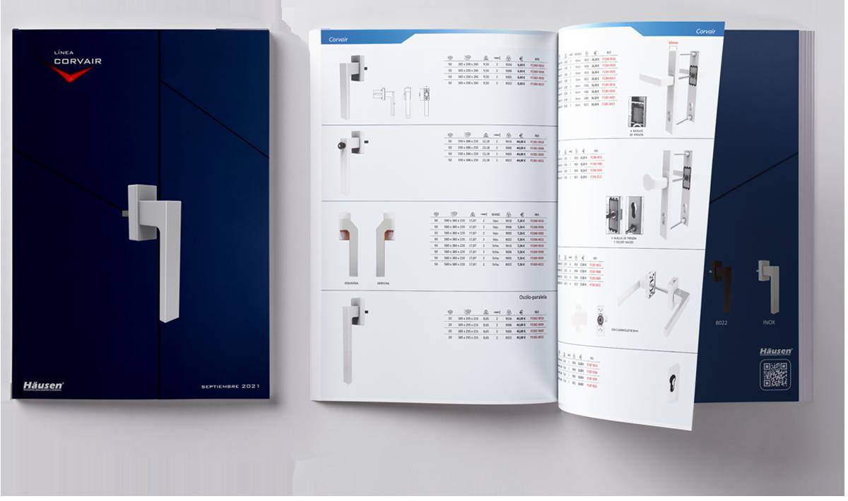 Descarga catalogo línea CORVAIR puertas y ventanas de Aluminio y PVC 2021