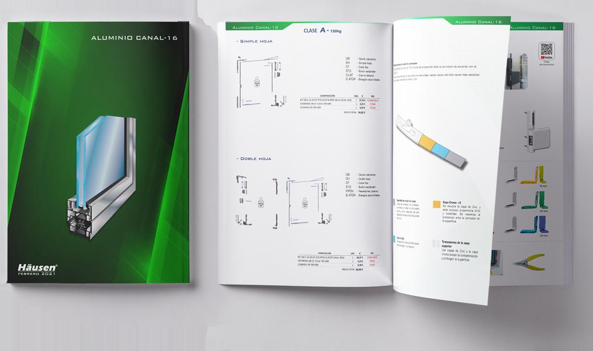 Catálogo aluminio c-16 para puertas y ventanas